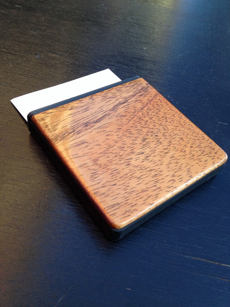 Mahogany cover, glued up, and poly coated.